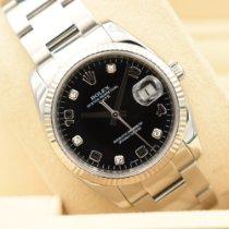 Rolex Oyster Perpetual Date подержанные 34mm Черный Дата Сталь