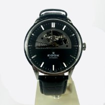 Edox pre-owned Automatic 43mm Black Sapphire crystal