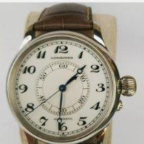 Longines Lindbergh Hour Angle Steel 47mm White Arabic numerals