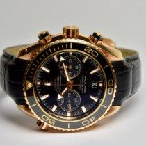 Omega Seamaster Planet Ocean Chronograph Oro rosa 45.5mm Nero Italia, Trieste