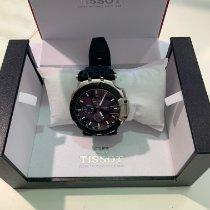 Tissot T-Race подержанные 45mm Синий Хронограф Дата Каучук