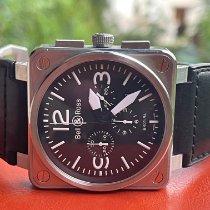 Bell & Ross BR 01-94 Chronographe Сталь 46mm Черный Aрабские