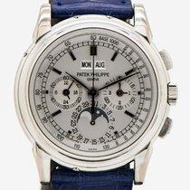 Patek Philippe Perpetual Calendar Chronograph White gold 40mm Silver