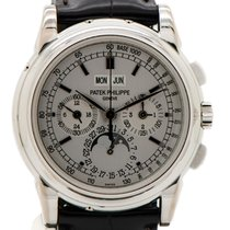 Patek Philippe 5970G-001 White gold 2007 Perpetual Calendar Chronograph 40mm pre-owned