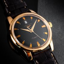 Longines Rose gold Automatic Black No numerals 40mm pre-owned Conquest Heritage