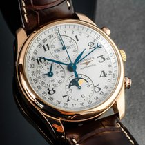Longines Rose gold Automatic White Arabic numerals 40mm pre-owned Master Collection