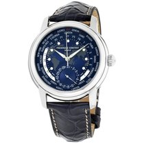 Frederique Constant Manufacture Worldtimer 42mm Blue United States of America, New Jersey, Somerset
