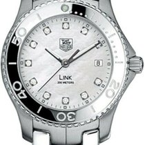 TAG Heuer Link Quartz pre-owned 39mm Mother of pearl Date Steel