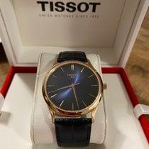 Tissot Pозовое золото Кварцевые Синий Без цифр 40mm подержанные