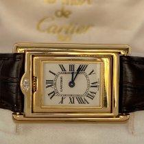 Cartier Tank (submodel) Gult gull 32mm Hvit Romersk