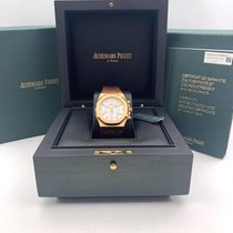 Audemars Piguet Royal Oak Chronograph pre-owned 41mm Silver Chronograph Date Leather
