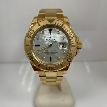 Rolex Yellow gold Automatic Mother of pearl pre-owned Yacht-Master