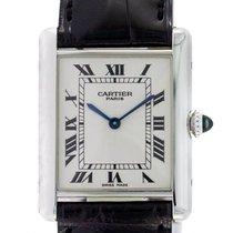 Cartier Tank Louis Cartier neu 2004 Handaufzug Uhr mit Original-Box und Original-Papieren 1601