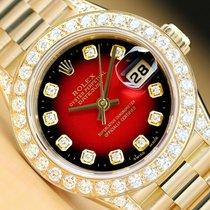 Rolex Lady-Datejust Желтое золото 26mm Красный