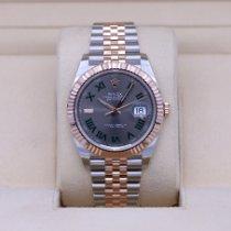 Rolex Steel Automatic Grey No numerals 41mm new Datejust II