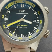 IWC Titanium Automatic Black 42mm pre-owned Aquatimer Automatic 2000