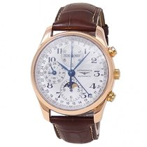 Longines Rose gold Automatic Silver 40mm pre-owned Master Collection