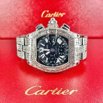Cartier Roadster Сталь 40mm Черный Римские