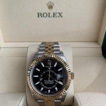 Rolex новые Автоподзавод Центральная секундная стрелка Оригинальное состояние/подлинные части 42mm Золото/Cталь Сапфировое стекло