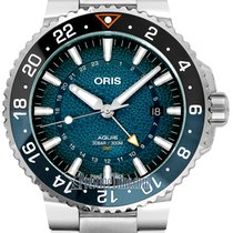 Oris Aquis GMT Date Steel 43.5mm Blue United States of America, New York, Airmont