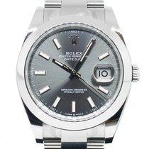 Rolex Datejust Steel 41mm Grey No numerals Singapore