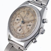 Rolex Chronograph Staal 36mm Wit Geen cijfers