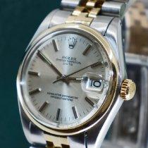 Rolex Oyster Perpetual Date Goud/Staal 34mm Zilver Geen cijfers