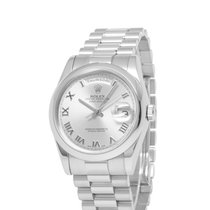 Rolex Platinum Automatic Roman numerals 36mm pre-owned Day-Date 36