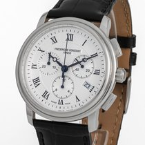 Frederique Constant Classics Chronograph pre-owned 40mm Silver Chronograph Date Leather
