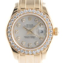 Rolex Lady-Datejust Pearlmaster Желтое золото 29mm Cеребро