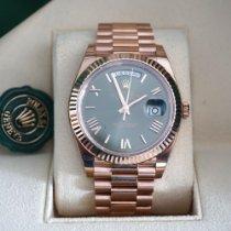 Rolex Day-Date 40 Oro rosa 40mm Verde Romani Italia, Catanzaro