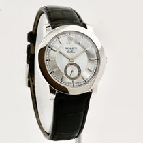 Rolex Cellini Platinum 38mm Silver No numerals