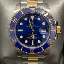 Rolex Submariner Date Gold/Steel 40mm Blue No numerals Malaysia