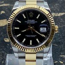 Rolex Datejust tweedehands 41mm Zwart Datum Goud/Staal