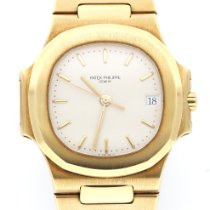 Patek Philippe 3800/001 Yellow gold Nautilus 37mm pre-owned