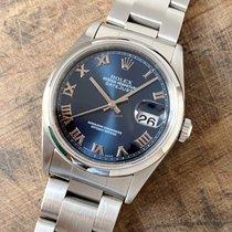 Rolex Datejust Сталь 36mm Синий Римские