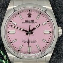 Rolex Oyster Perpetual 36 Сталь 36mm Розовый Aрабские