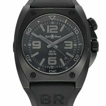 Bell & Ross Steel Automatic Black 44mm pre-owned BR 02
