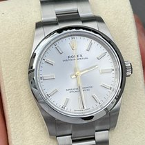 Rolex Oyster Perpetual Steel 34mm Silver