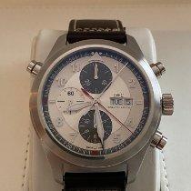 IWC Pilot Double Chronograph Steel 44mm Silver Arabic numerals