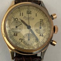 Breitling Rose gold Manual winding Silver Arabic numerals 36mm pre-owned