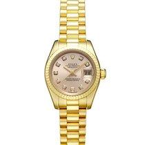 Rolex 179178G Or jaune 2002 Lady-Datejust 26mm occasion