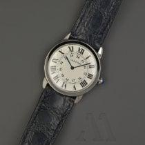 Cartier Ronde Solo de Cartier Steel 36mm Silver Roman numerals
