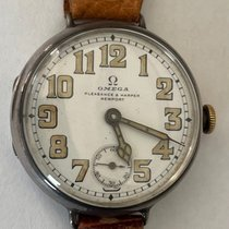 Omega Silver Manual winding White Arabic numerals 34mm pre-owned