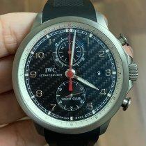IWC Титан Автоподзавод Черный Aрабские подержанные Portuguese Yacht Club Chronograph