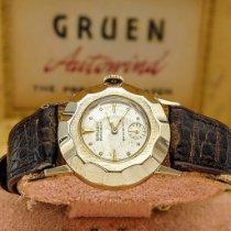 Gruen Precision Gold/Steel 29.7mm White No numerals