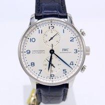 IWC Portugieser Chronograph Stahl 41mm Silber