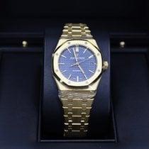Audemars Piguet Yellow gold Automatic Blue No numerals 37mm new Royal Oak Selfwinding