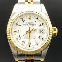 Rolex Lady-Datejust Золото/Cталь 26mm Белый Без цифр