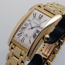 Cartier Tank Américaine Yellow gold 45mm Silver Roman numerals United States of America, California, Los Angeles